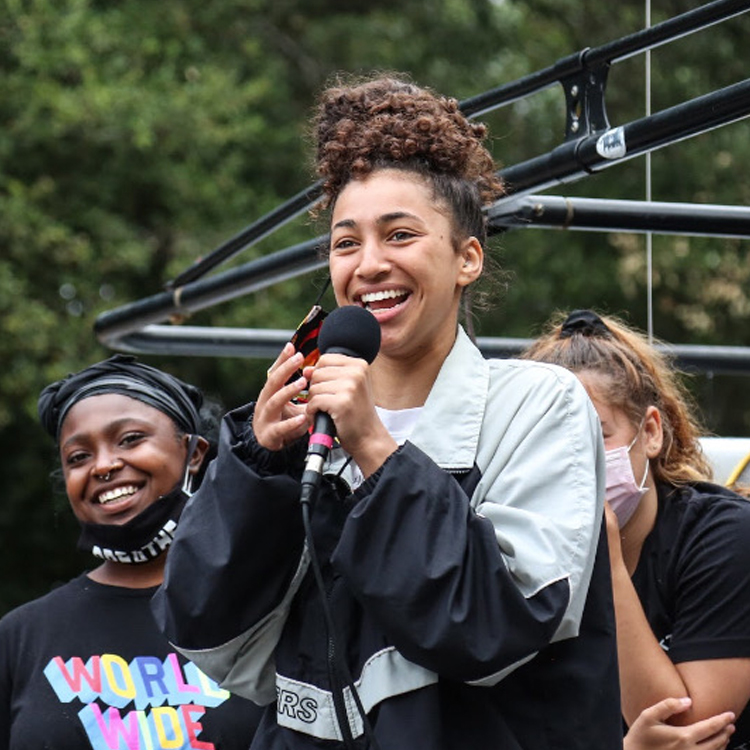 photo of Isha Clarke from black liberation protest movement