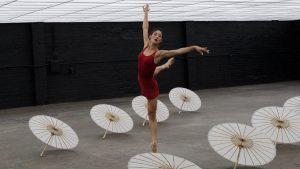 """Film still from """"Between the Lines"""" dance film with Stephanie Kim at SFDFF 2021"""