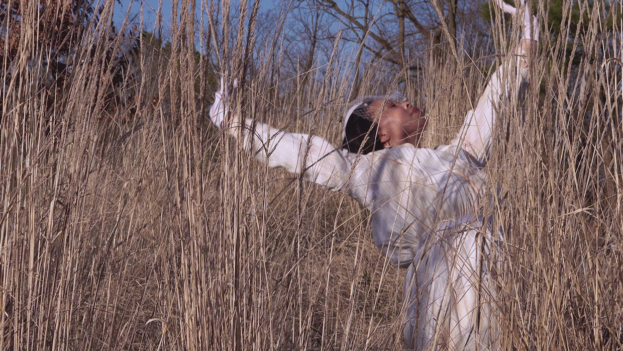 Still from The Comunion of White Dresses by Laura Casteel dance film at SFDFF 2021